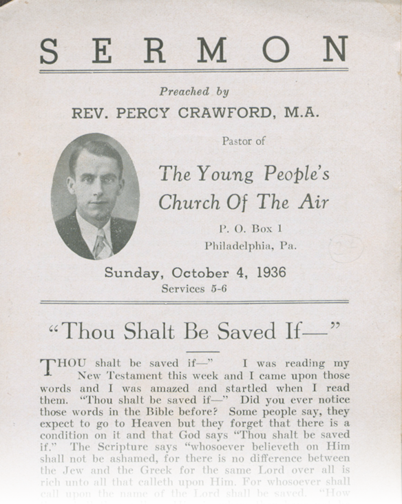 Thou Shalt be Saved If - sample pamphlet cover